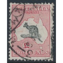 AUSTRALIA - 1930 £2 grey/pale rose-crimson Kangaroo, SM watermark, used – ACSC # 57B