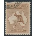 AUSTRALIA - 1916 2/- red-brown (aniline) Kangaroo, 3rd watermark, used – ACSC # 37G