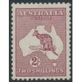 AUSTRALIA - 1945 2/- maroon Kangaroo (redrawn die), CofA watermark, MH – ACSC # 41A