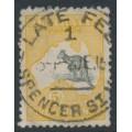 AUSTRALIA - 1915 5/- deep grey/chrome Kangaroo, inverted 2nd watermark, used – ACSC # 43Ba