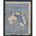 AUSTRALIA - 1915 6d deep ultramarine Kangaroo, die II, 3rd watermark inverted, used – ACSC # 19Aa
