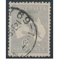 AUSTRALIA - 1915 6d pale greyish violet Kangaroo, die II, 3rd watermark, used – ACSC # 19G