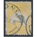 AUSTRALIA - 1915 5/- deep grey/yellow Kangaroo, 2nd watermark, used – ACSC # 43A