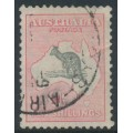 AUSTRALIA - 1932 10/- grey/rose-crimson Kangaroo, CofA watermark, used – ACSC # 50B