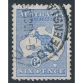 AUSTRALIA - 1913 6d ultramarine Kangaroo, 1st watermark, 'die IIA substituted cliché', used – ACSC # 17A(1)ja