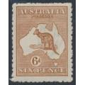 AUSTRALIA - 1923 6d chestnut Kangaroo, 3rd watermark, MH – ACSC # 21A