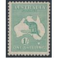 AUSTRALIA - 1929 1/- emerald Kangaroo, SM watermark, MH – ACSC # 34C
