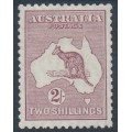 AUSTRALIA - 1929 2/- pale maroon Kangaroo, SM watermark, MH – ACSC # 39A