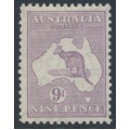 AUSTRALIA - 1932 9d pale purple Kangaroo, CofA watermark, MH – ACSC # 29C