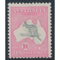 AUSTRALIA - 1913 10/- grey/pink Kangaroo, 1st watermark, MH – ACSC # 47A