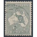 AUSTRALIA - 1915 2d slate-grey Kangaroo, 2nd watermark, used – ACSC # 6B