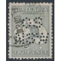 AUSTRALIA - 1915 2d silver-grey Kangaroo, die I, 3rd watermark, perf. OS NSW, used – ACSC # 7Dba