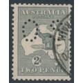 AUSTRALIA - 1915 2d grey Kangaroo, die I, 3rd watermark, perf. OS, used – ACSC # 7Bba