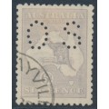 AUSTRALIA - 1921 6d pale violet-blue Kangaroo, die IIB, 3rd watermark, perf. OS, used – ACSC # 20Bb