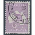 AUSTRALIA - 1932 9d pale purple Kangaroo, CofA watermark, used – ACSC # 29C