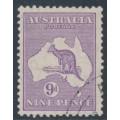AUSTRALIA - 1932 9d violet Kangaroo, CofA watermark, CTO – ACSC # 29Aw
