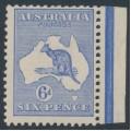 AUSTRALIA - 1915 6d ultramarine Kangaroo, die II, 3rd watermark, MH – ACSC # 19A