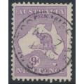 AUSTRALIA - 1915 9d violet Kangaroo, 2nd watermark, used – ACSC # 25A
