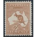 AUSTRALIA - 1923 6d chestnut Kangaroo, 3rd watermark, CTO – ACSC # 21Aw