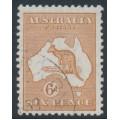 AUSTRALIA - 1932 6d chestnut Kangaroo, CofA watermark, CTO – ACSC # 23Aw