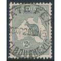AUSTRALIA - 1915 2d grey Kangaroo, 2nd watermark, used – ACSC # 6A