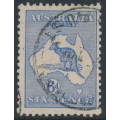 AUSTRALIA - 1915 6d deep ultramarine Kangaroo, 2nd watermark, used – ACSC # 18B