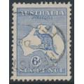 AUSTRALIA - 1915 6d ultramarine Kangaroo, 2nd watermark, used – ACSC # 18A