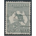 AUSTRALIA - 1915 2d grey Kangaroo, die I, 3rd watermark, used – ACSC # 7B