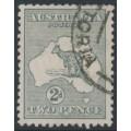AUSTRALIA - 1915 2d silver-grey Kangaroo, die I, 3rd watermark, used – ACSC # 7D
