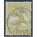 AUSTRALIA - 1915 3d olive Kangaroo, die II, 3rd watermark, used – ACSC # 13F