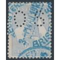 AUSTRALIA - 1915 6d pale ultramarine Kangaroo, die II, 3rd watermark, perf. OS, used – ACSC # 19Aba