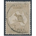 AUSTRALIA - 1916 2/- pale brown Kangaroo, 3rd watermark, used – ACSC # 37B