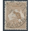 AUSTRALIA - 1916 2/- reddish brown Kangaroo, 3rd watermark, used – ACSC # 37F