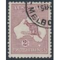 AUSTRALIA - 1929 2/- maroon Kangaroo, SM watermark, CTO – ACSC # 39Aw