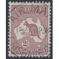 AUSTRALIA - 1935 2/- maroon Kangaroo (original die), CofA watermark, used – ACSC # 40A