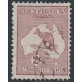 AUSTRALIA - 1935 2/- pale maroon Kangaroo (original die), CofA watermark, used – ACSC # 40B