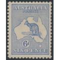 AUSTRALIA - 1915 6d ultramarine Kangaroo, 2nd watermark, MH – ACSC # 18A