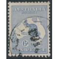 AUSTRALIA - 1915 6d pale ultramarine Kangaroo, die II, 3rd watermark inverted, used – ACSC # 19Aa