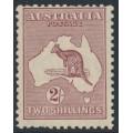 AUSTRALIA - 1929 2/- maroon Kangaroo, small multiple watermark, MNH – ACSC # 39A