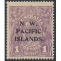 AUSTRALIA / NWPI - 1922 1d violet KGV Head, variety 'thin left frame', MNH - SG # 120