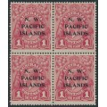 AUSTRALIA / NWPI - 1918 1d carmine-red KGV Head (shade = G31), block of 4, MH – SG # 103