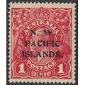 AUSTRALIA / NWPI - 1915 1d deep scarlet-red (aniline) KGV Head (shade = G17½), MH – SG # 67