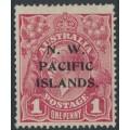 AUSTRALIA / NWPI - 1918 1d carmine-red KGV Head (shade = G31), MH – SG # 103