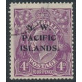 AUSTRALIA / NWPI - 1922 4d violet KGV Head, single watermark, used – SG # 123