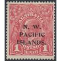 AUSTRALIA / NWPI - 1915 1d reddish pink KGV Head (shade = G15), die II, MH – SG # 67c