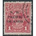 AUSTRALIA / NWPI - 1918 1d brown-red KGV Head (shade = G32), die II, used – SG # 103b