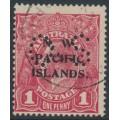 AUSTRALIA / NWPI - 1920 1d rosine KGV Head (shade = G68), perf. OS, used – SG # O16