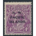 AUSTRALIA / NWPI - 1922 4d violet KGV Head, single watermark, 'notch at upper right', MH – SG # 123