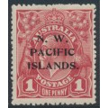 AUSTRALIA / NWPI - 1918 1d brown-red KGV Head (shade = G32), die II, MH – SG # 103b