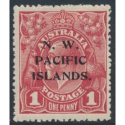 AUSTRALIA / NWPI - 1918 1d brown-red KGV Head (shade = G32), die II, MH – SG # 103b